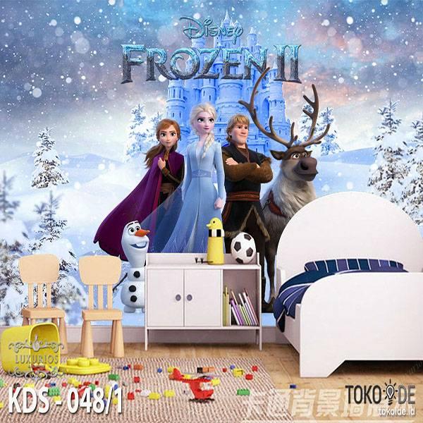 3D Custom Wallpaper Dinding - Motif  Frozen/Elsa | KDS - 048/10
