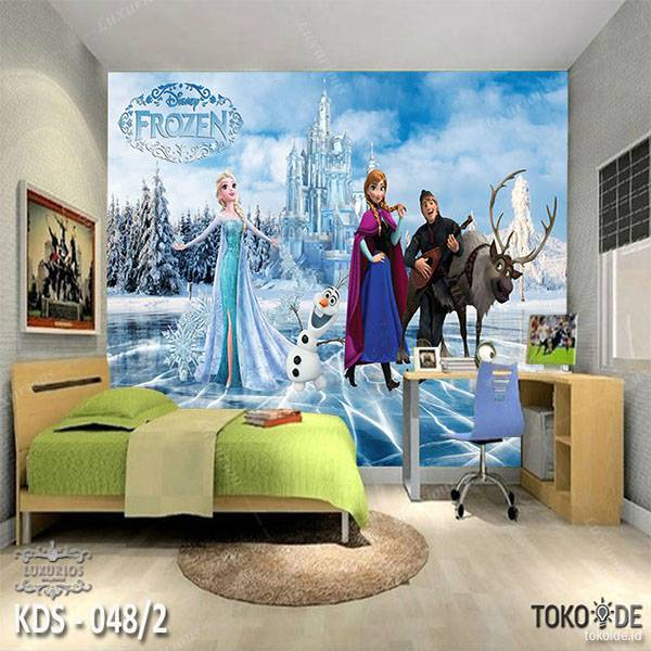 3D Custom Wallpaper Dinding - Motif  Frozen/Elsa | KDS - 048/20