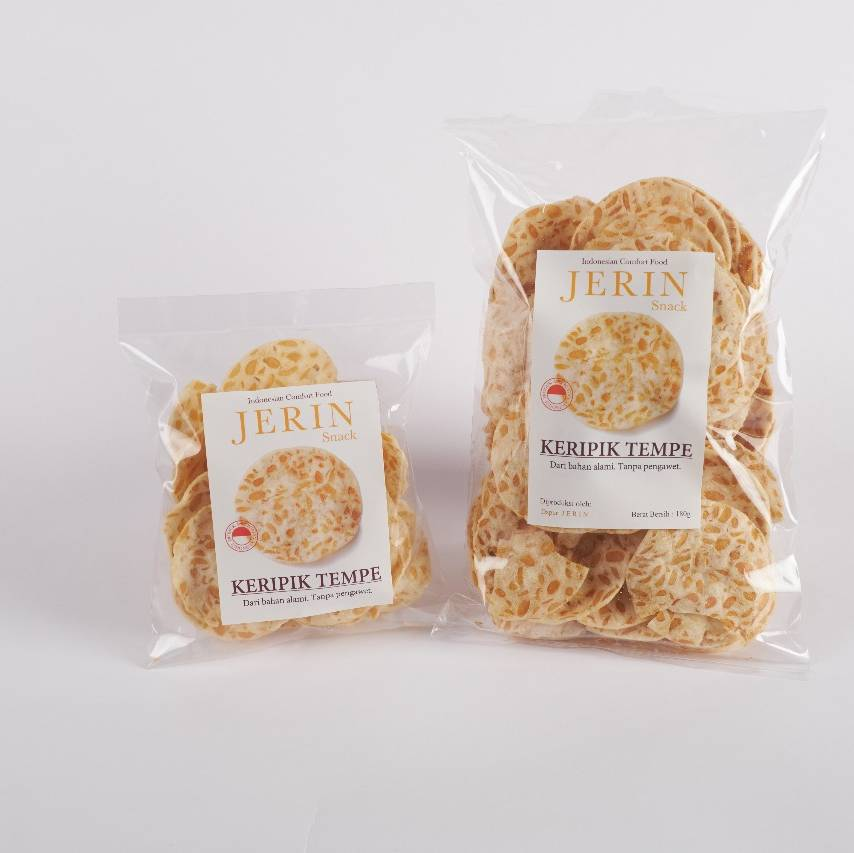 Kripik Tempe Jerin 20 pack 180 Grm