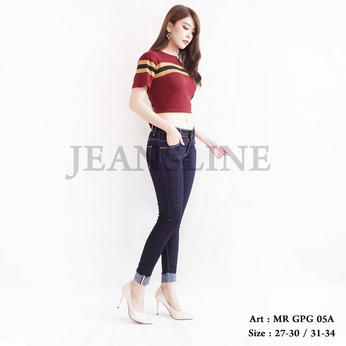 Celana Panjang Jeans Ladies (mr Gpg 05a) - Paket 4 Pcs - Size 27, 28, 29, 301