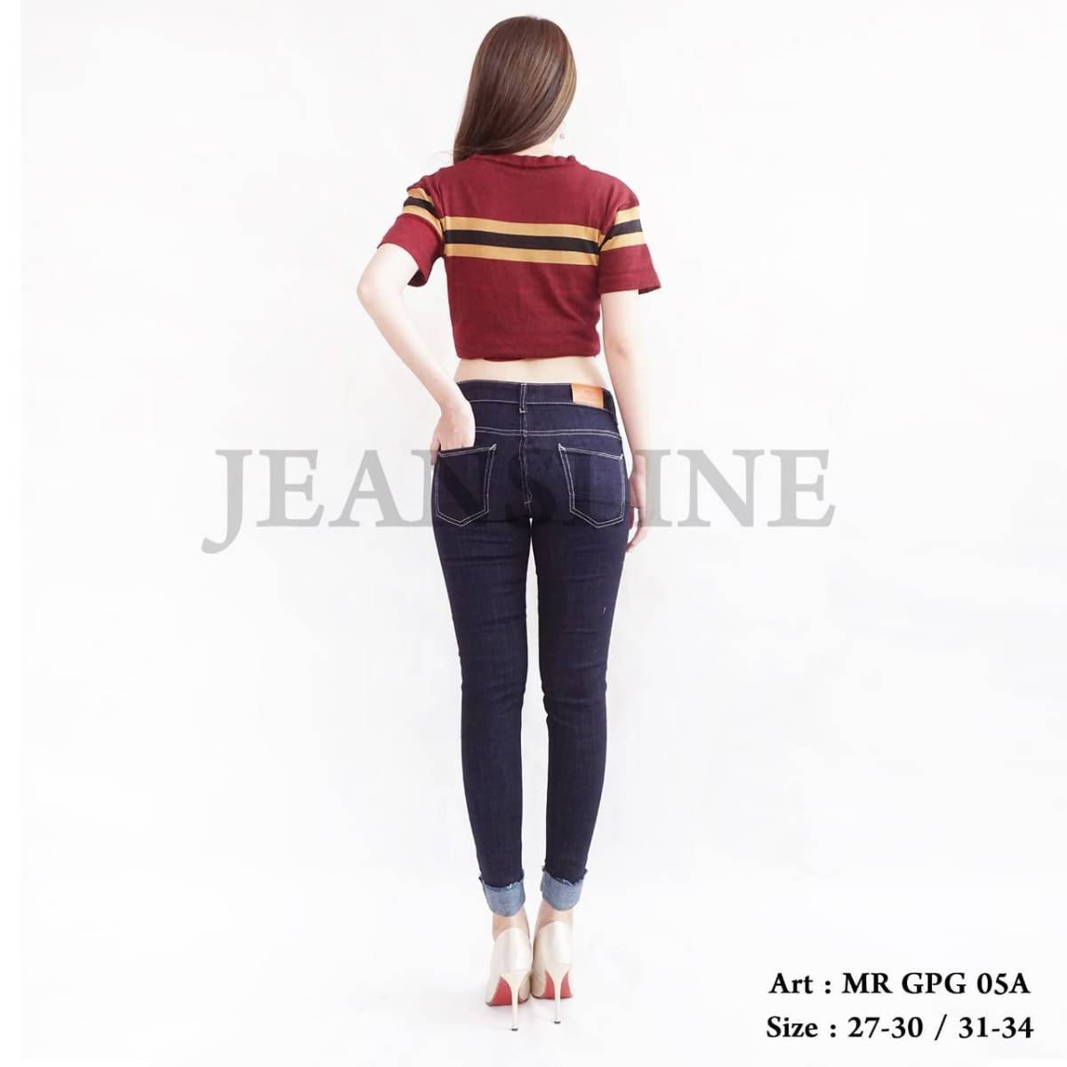 Celana Panjang Jeans Ladies (mr Gpg 05a) - Paket 12 Pcs - Size 31, 32, 33, 342