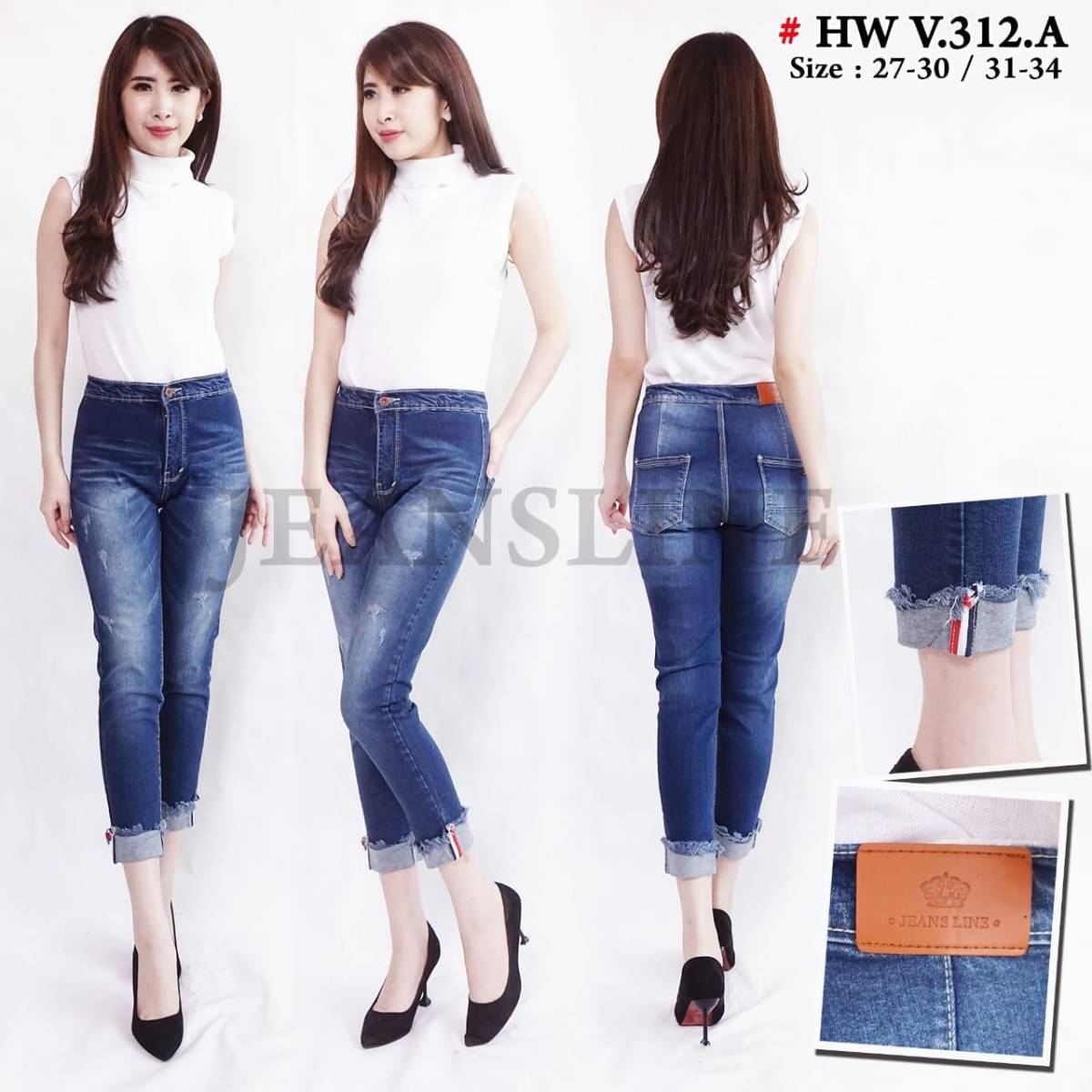 Celana Panjang Jeans Wanita (size 31, 32, 33, 34)