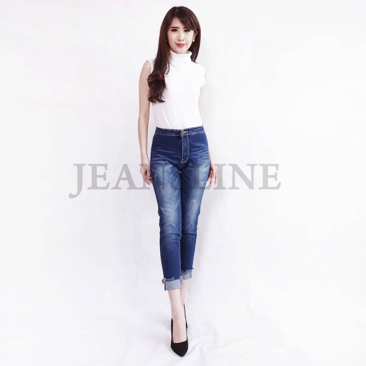 Celana Panjang Jeans Wanita - Paket 4 Pcs (size 27, 28, 29, 30)1