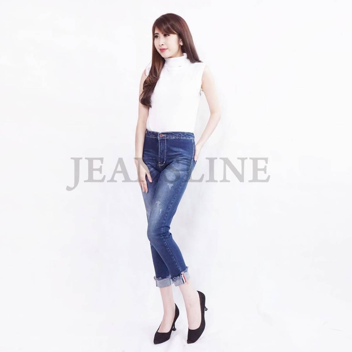 Celana Panjang Jeans Wanita - Paket 4 Pcs (size 27, 28, 29, 30)2