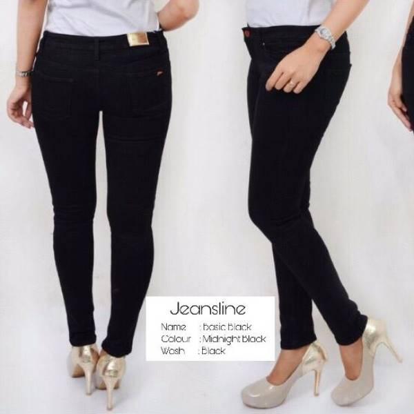 Celana Panjang Jeans Wanita - Basic, Paket 12 Pcs (size 31, 32, 33, 34)