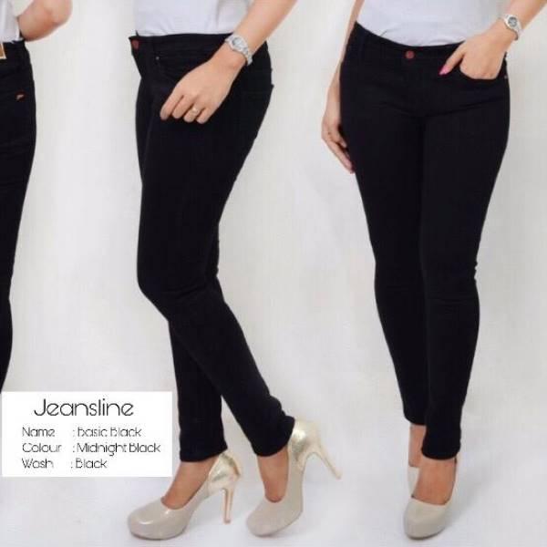Celana Panjang Jeans Wanita - Basic, Paket 4 Pcs (size 27, 28, 29, 30)1