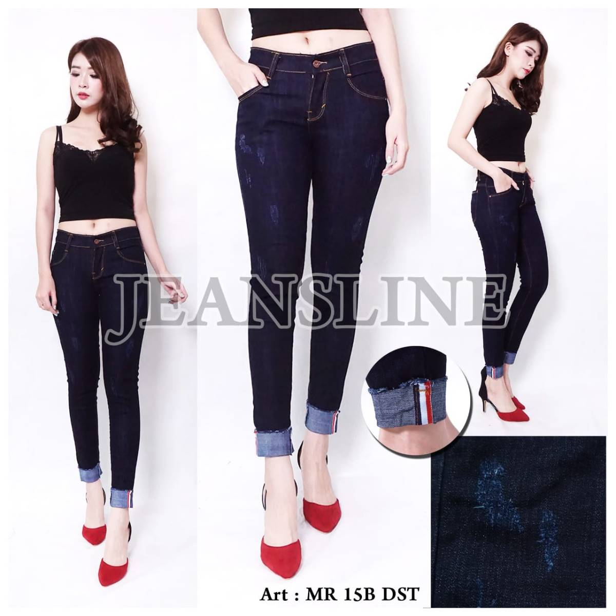 Skinny Jeans Ladies Paket 12 Pcs - Size 27, 28, 29, 30