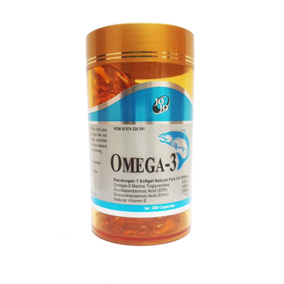 Jojo Omega 3 Luxury 1000mg 200 Softgels (6 Botol)