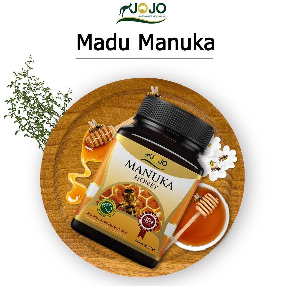 Jojo Manuka Honey Mg0 30+ 500 Gr ( 6 Botol)