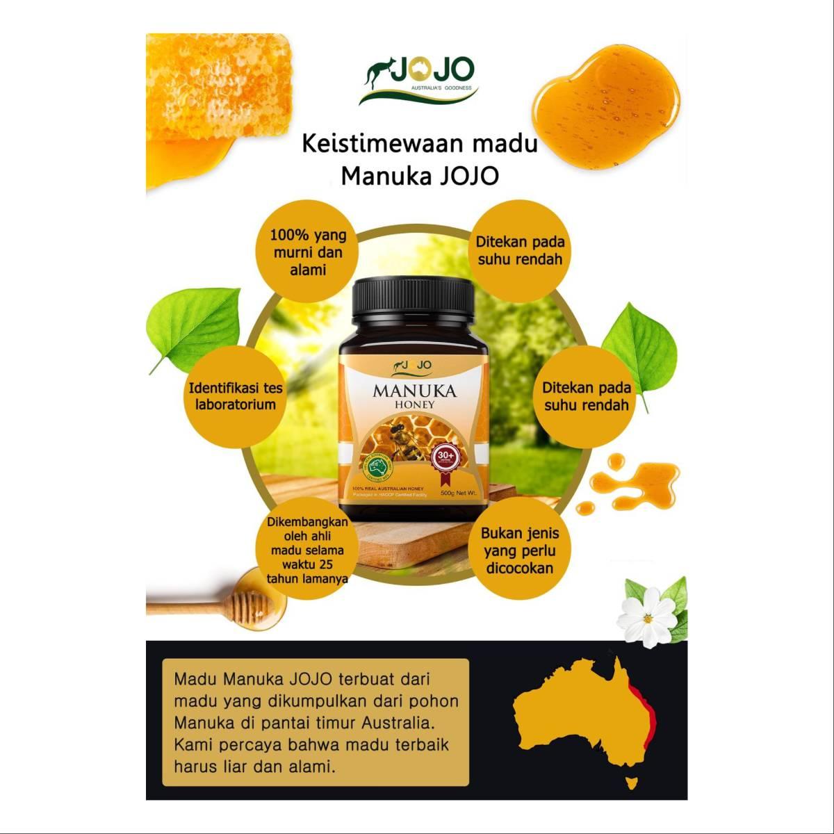 Jojo Manuka Honey Mg0 30+ 500 Gr ( 6 Botol)2