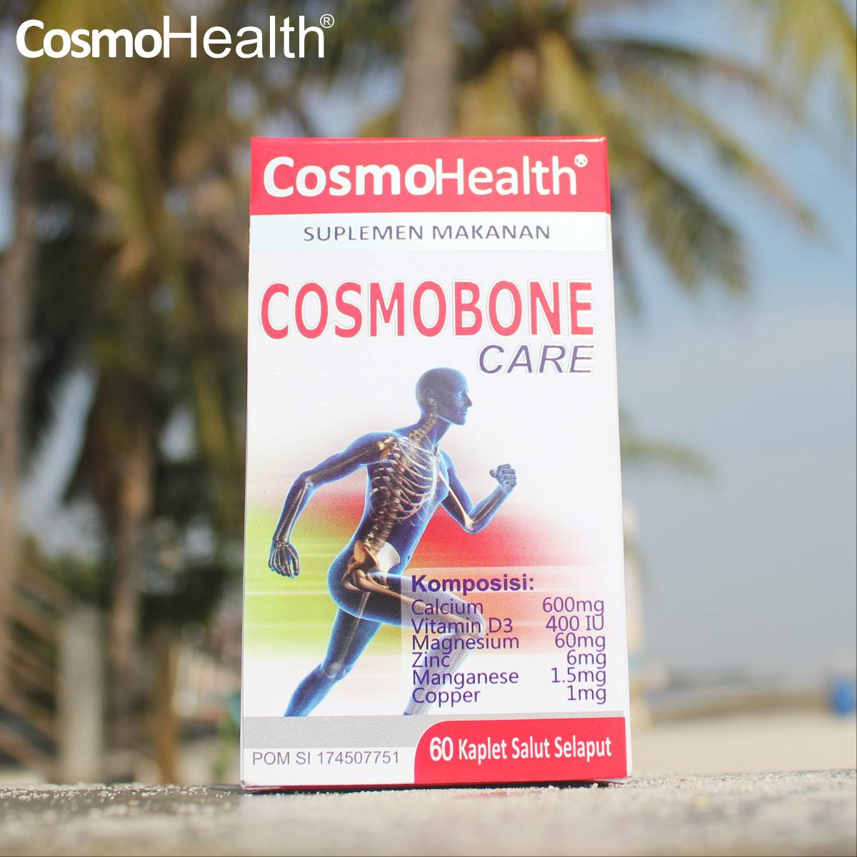 Cosmohealth Cosmobone Care 60 Coated Caplets (2 BOTOL + FREE 1 BOTOL)