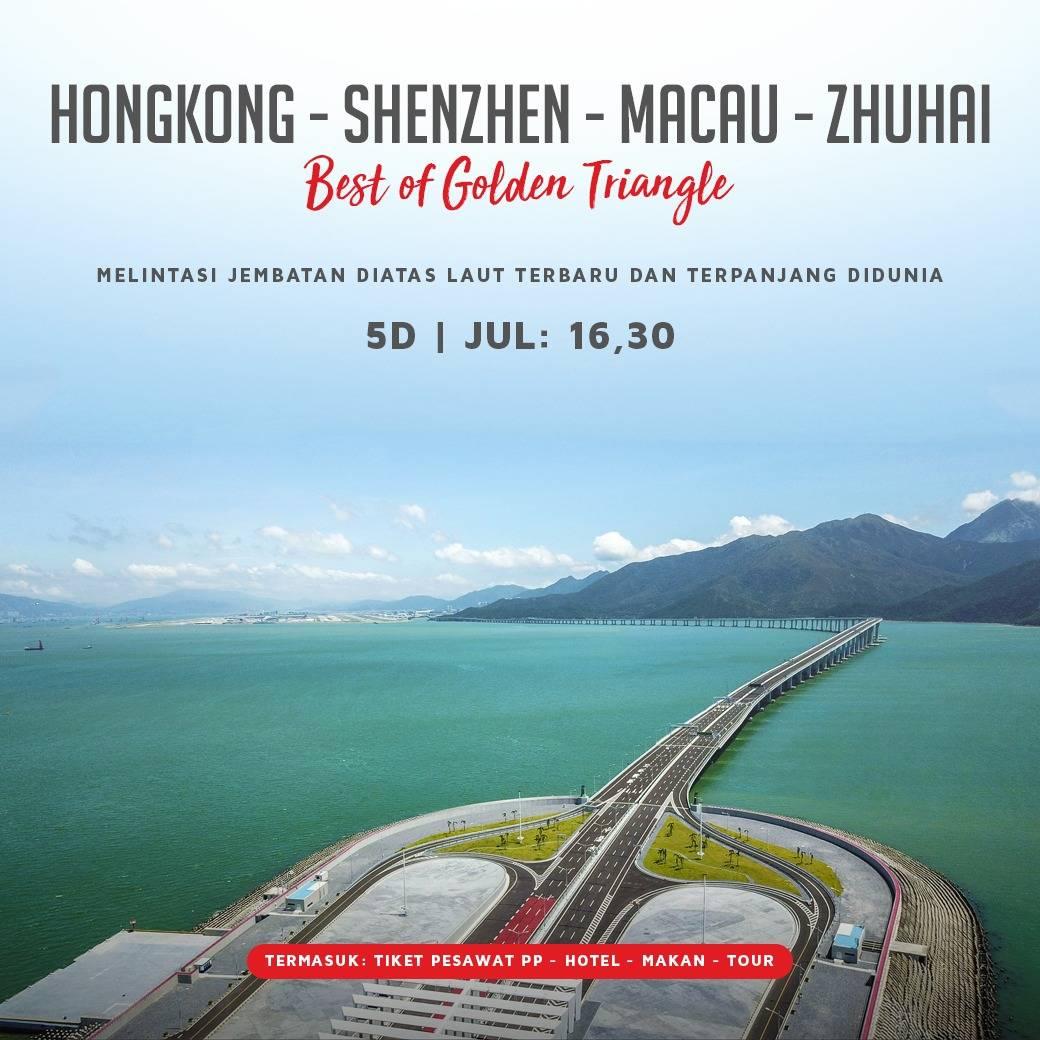5D GOLDEN TRIANGLE SHENZHEN – HONGKONG – ZHUHAI –MACAU