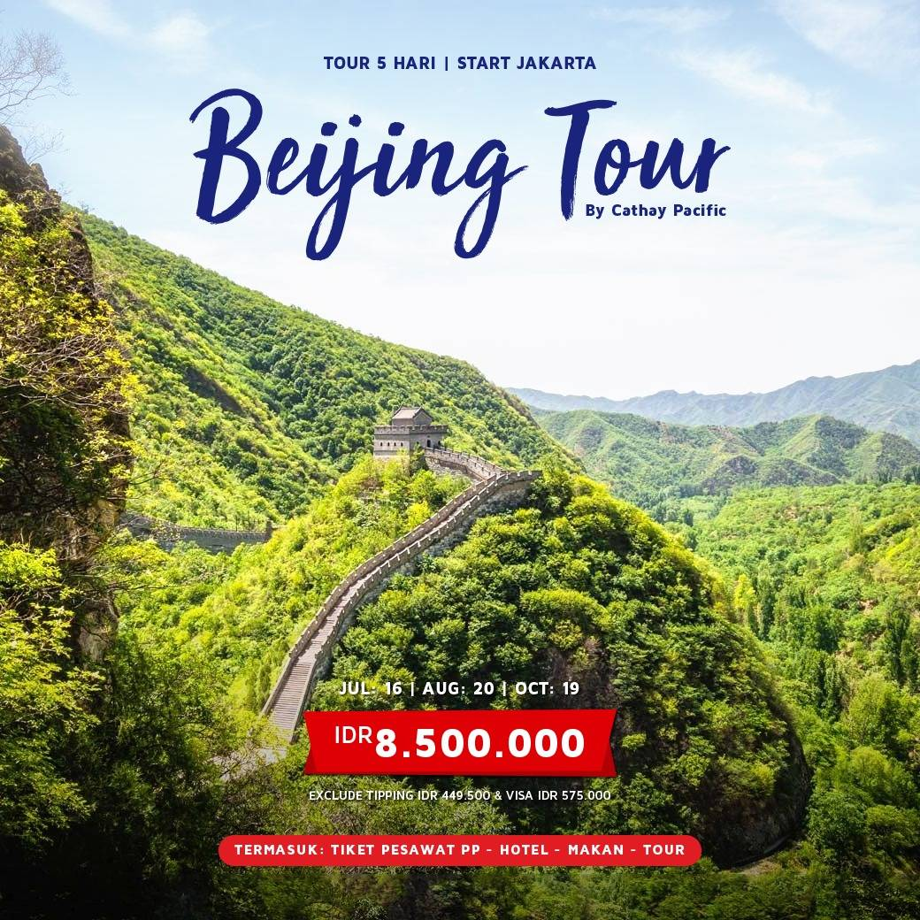 5D3N BEIJING TOUR BY CATHAY PACIFIC