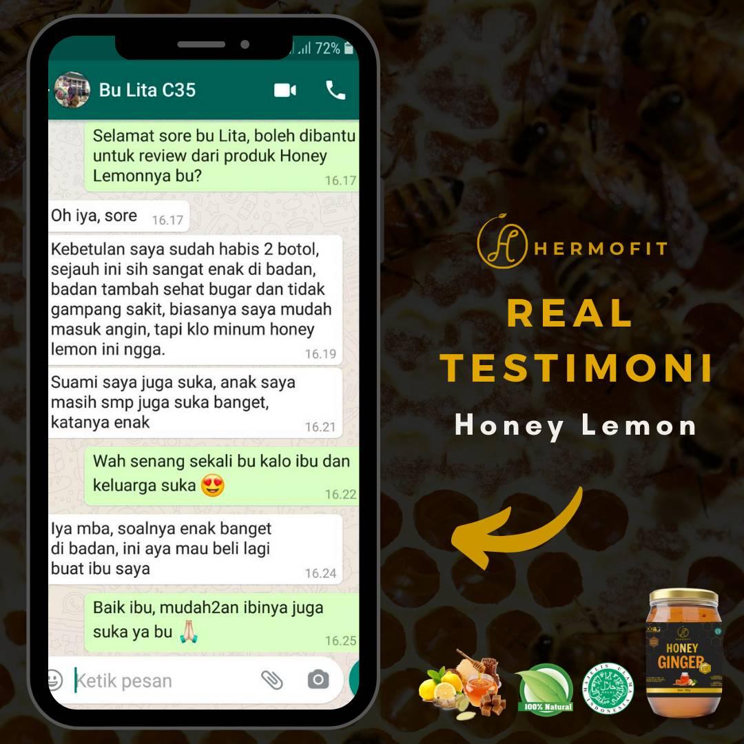 Hermofit Honey Lemon 380 gram4
