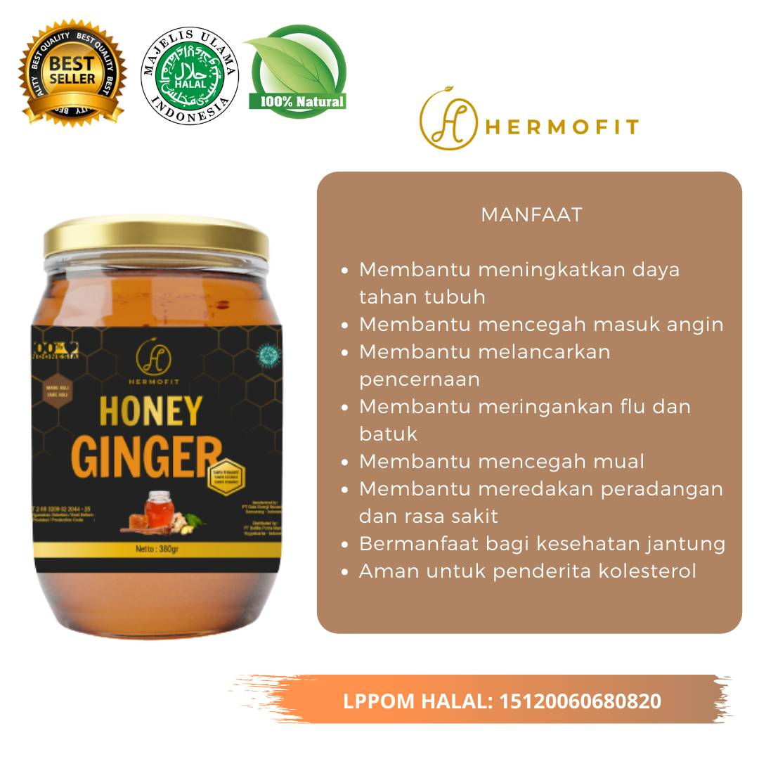 Hermofit Honey Ginger 380 gram2