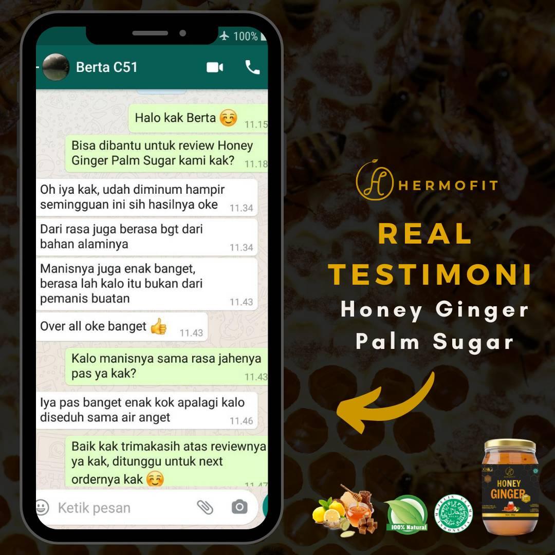 Hermofit Honey Ginger Palm Sugar 380 gram4
