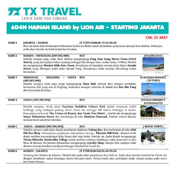 Flash Sale 6D Hainan Island 18 Juni 20191