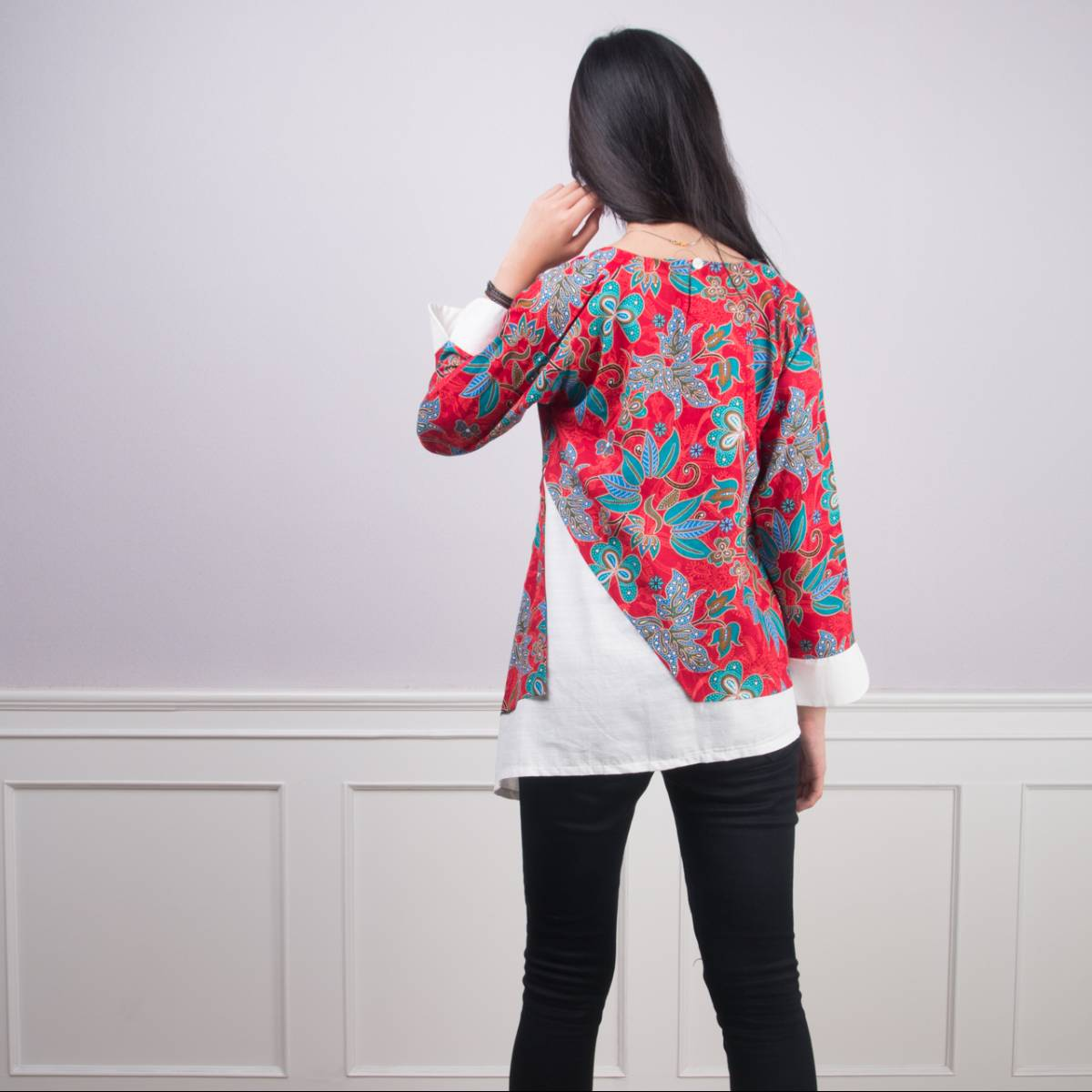 Batik Wanita -Tina Top (Red)3
