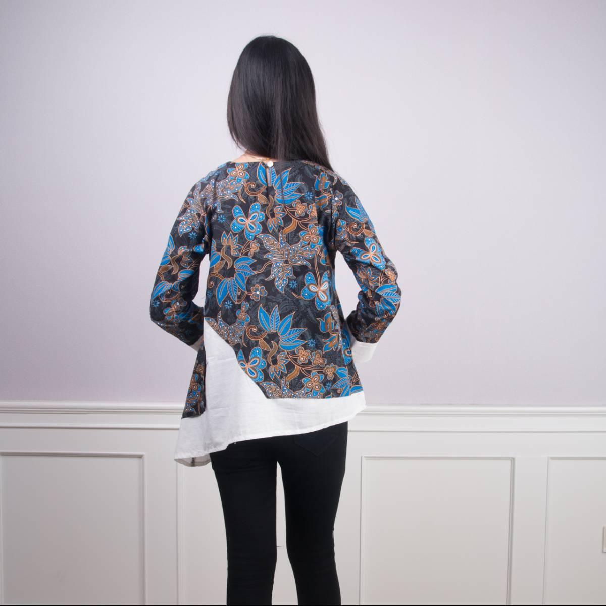Batik Wanita -Tina Top (Blue)3