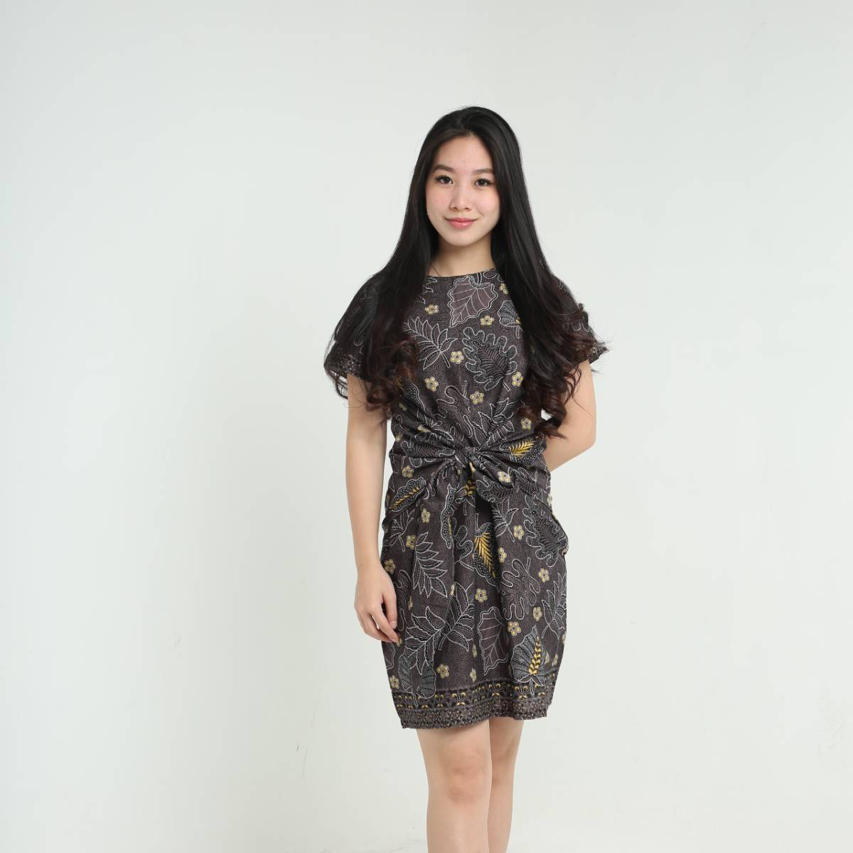 Dress Wanita Batik-Priska Dress (Black)