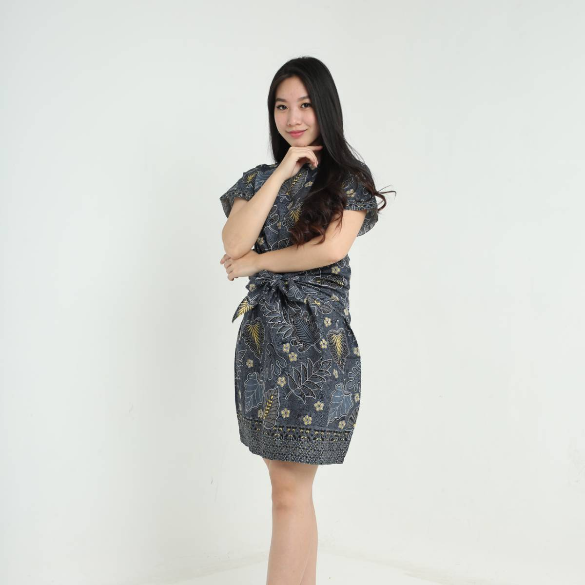 Dress Wanita Batik-Priska Dress (Black)1