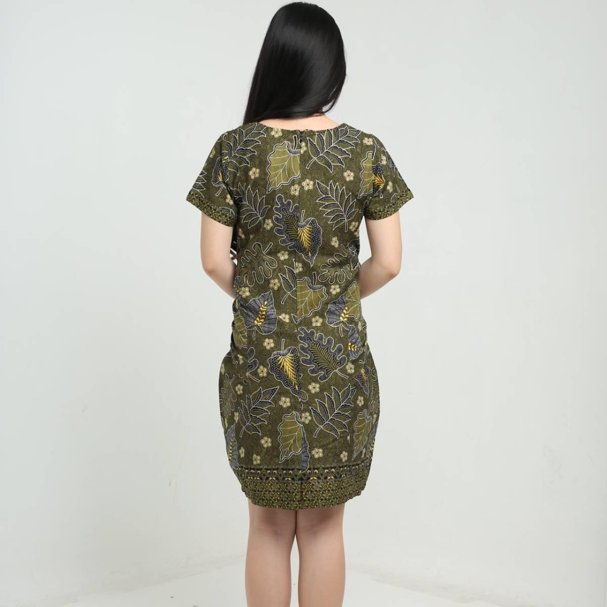 Dress Atasan Wanita-Priska Dress (Green)2