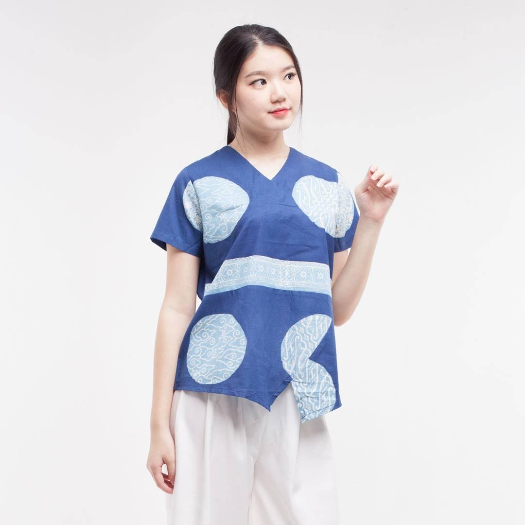 Batik Wanita-Vilia Top (Blue)