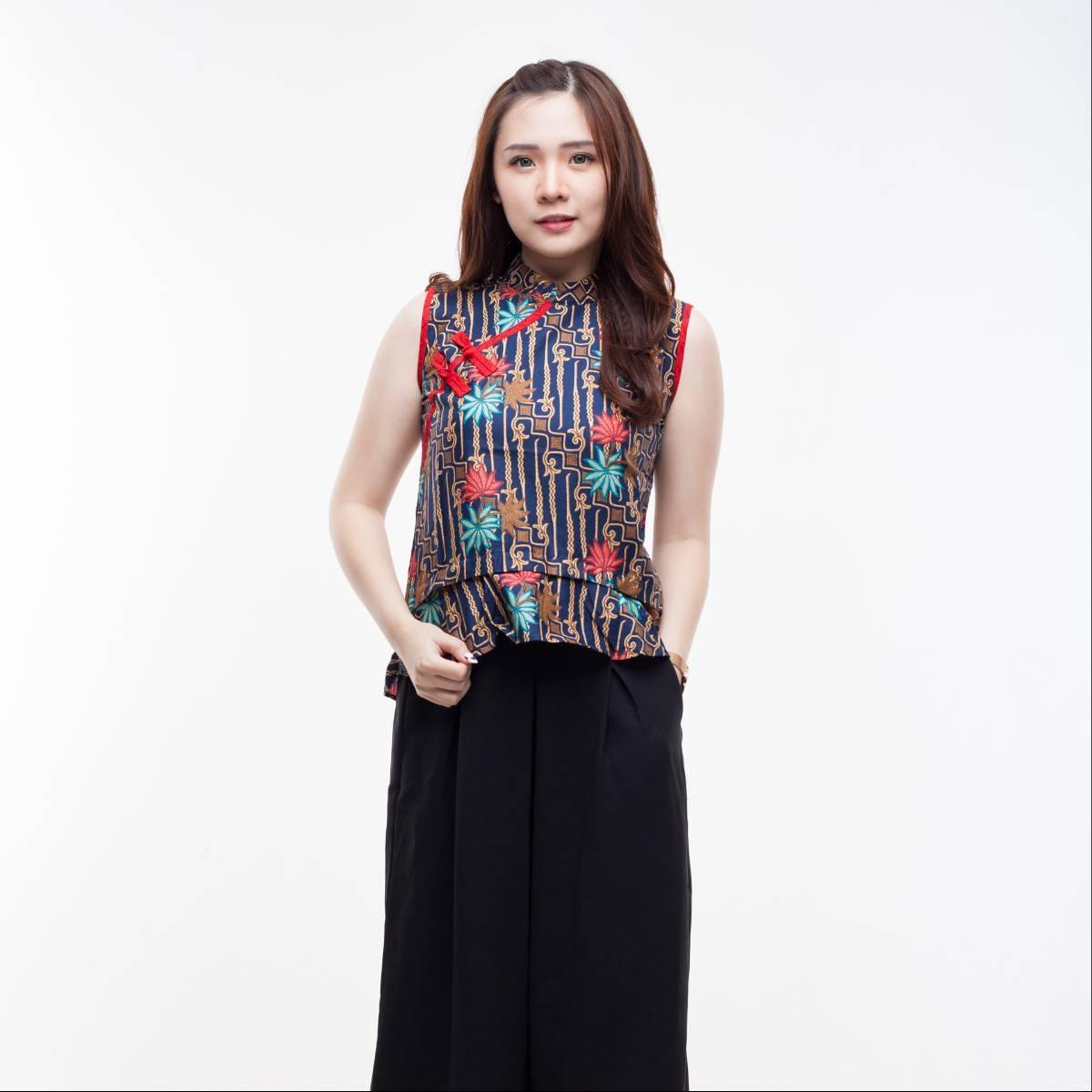 Atasan Batik Wanita Modern - Amel Top2
