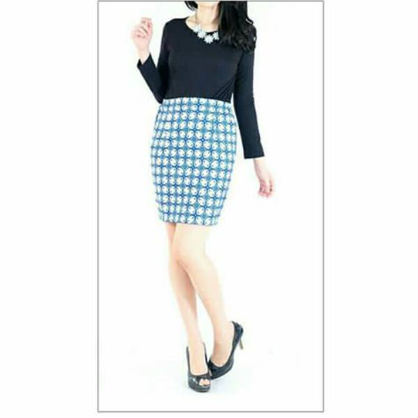Rok Batik Wanita-Dolby Span Skirt2