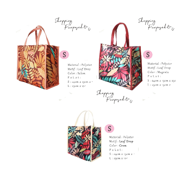 Maharani Outlet Multipurpose Bag Leaf Drop size S By Zorita Bags