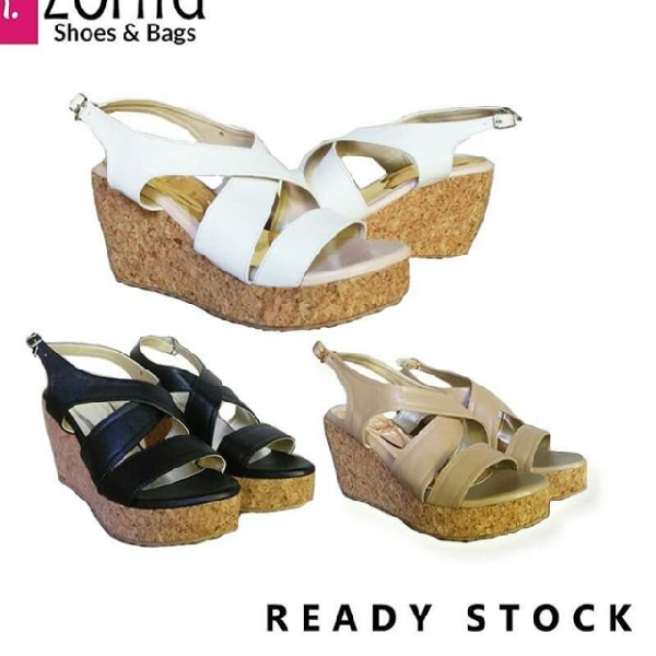 Maharani Outlet Wedges List Cross ZR 2301 By Zorita Shoes