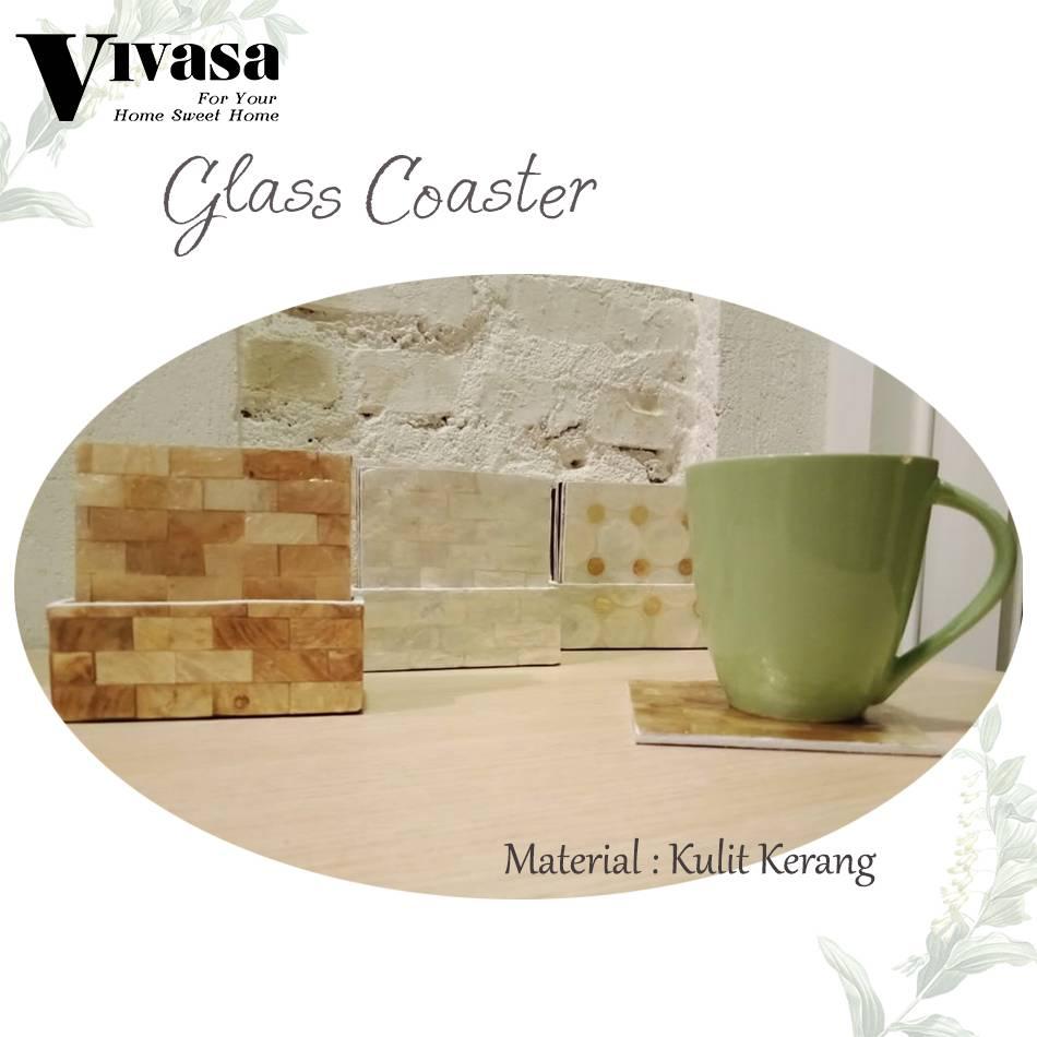 Maharani Outlet Glass Couster/Tatakan Gelas Persegi motif balok By Vivasa Creative