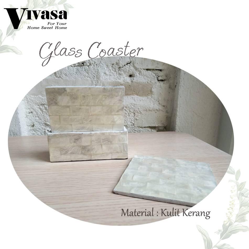Maharani Outlet Glass Couster/Tatakan Gelas Persegi motif balok By Vivasa Creative1