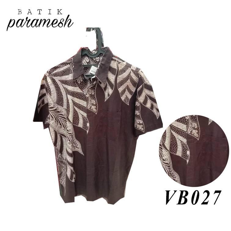 Maharani Outlet Kemeja Batik Pria / Laki-laki VB027 By Batik Paramesh