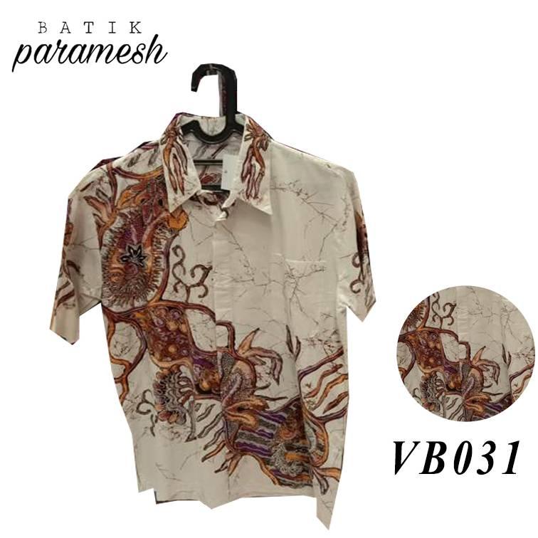 Maharani Outlet Kemeja Batik Pria / Laki-laki VB031 By Batik Paramesh