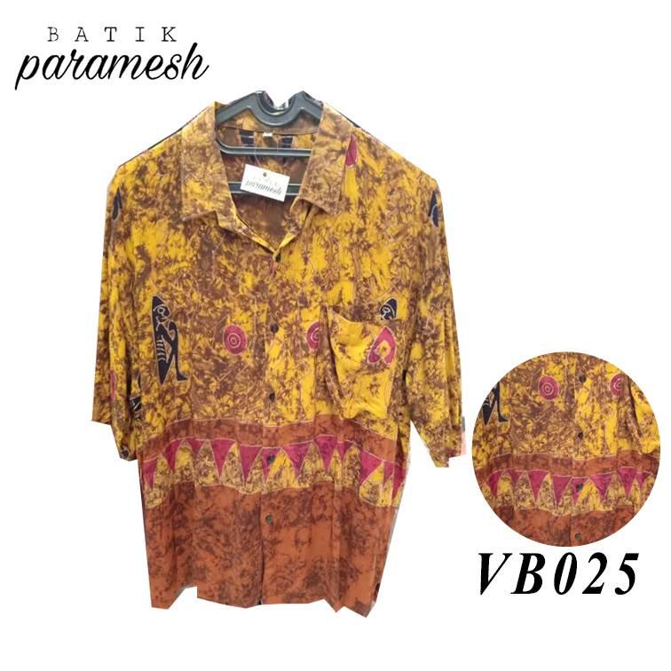 Maharani Outlet Kemeja Batik Pria / Laki-laki VB025 By Batik Paramesh