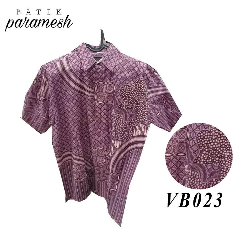 Maharani Outlet Kemeja Batik Pria / Laki-laki VB023 By Batik Paramesh