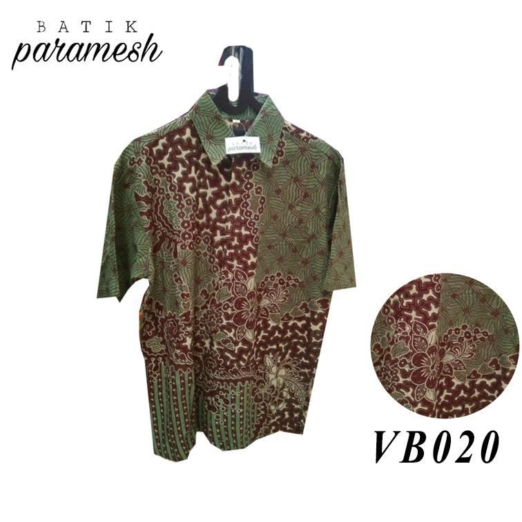 Maharani Outlet Kemeja Batik Pria / Laki-laki VB020 By Batik Paramesh