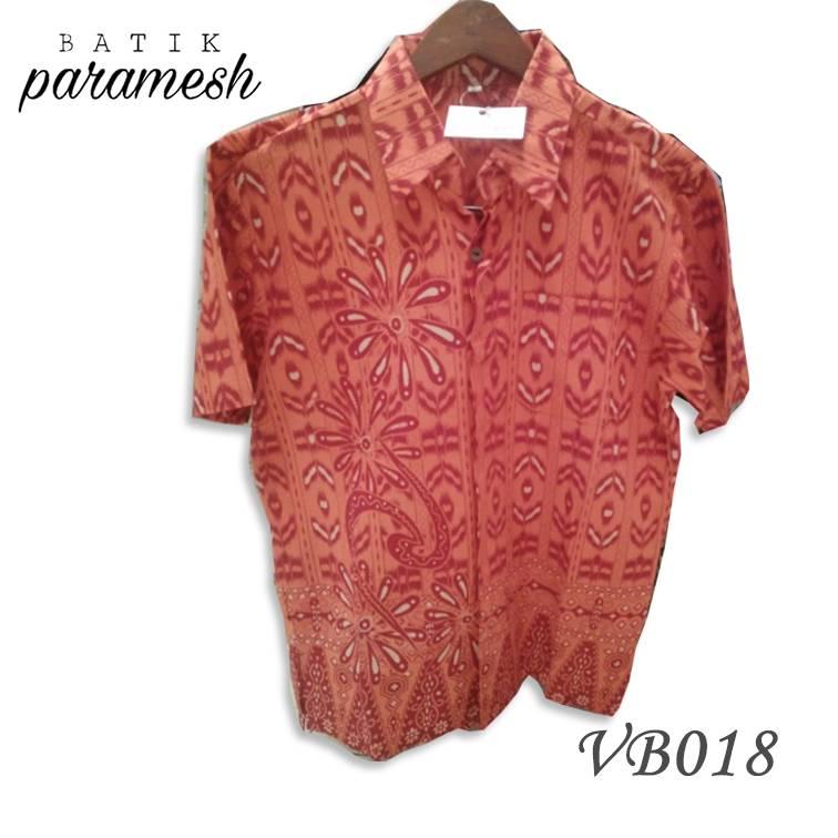 Maharani Outlet Kemeja Batik Pria / Laki-laki VB018 By Batik Paramesh