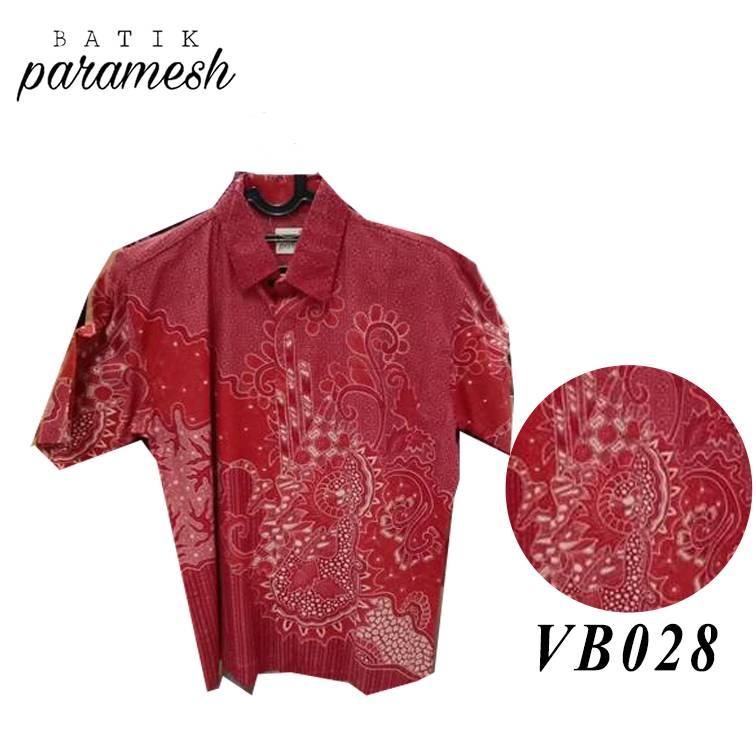 Maharani Outlet Kemeja Batik Pria / Laki-laki VB028 By Batik Paramesh