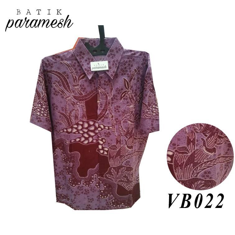 Maharani Outlet Kemeja Batik Pria / Laki-laki VB022 By Batik Paramesh