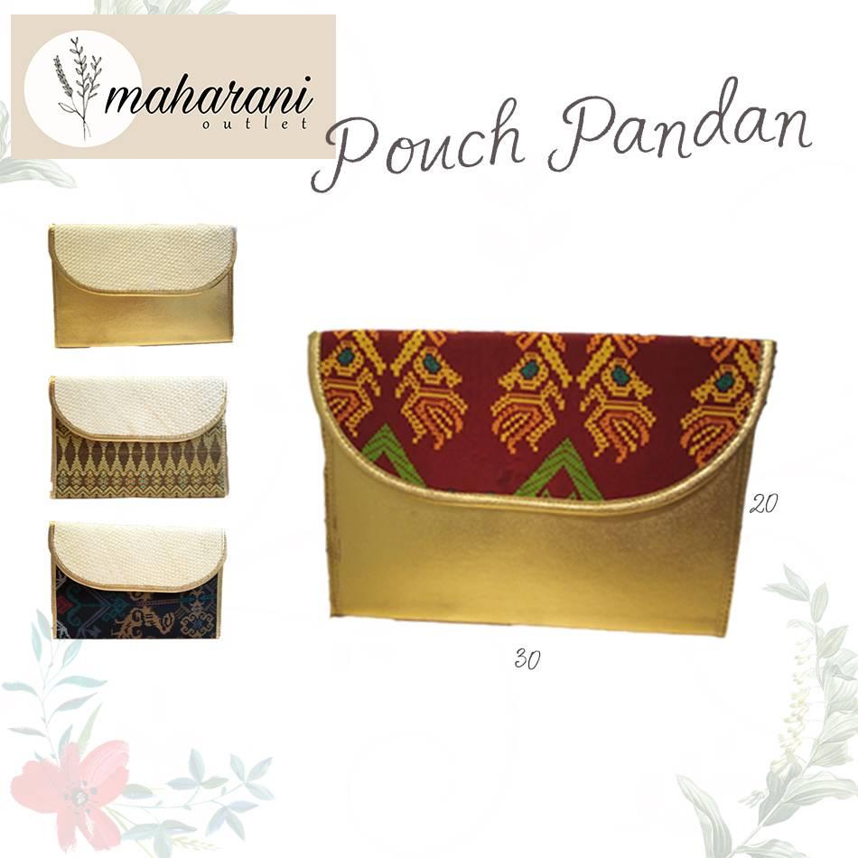 Maharani Outlet Pouch Pandan Combine Etnik 002 By Vivasa Creative1