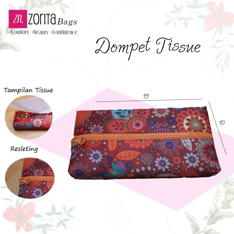 Maharani Outlet Dompet Tissu Flowers 001 By Zorita Bags