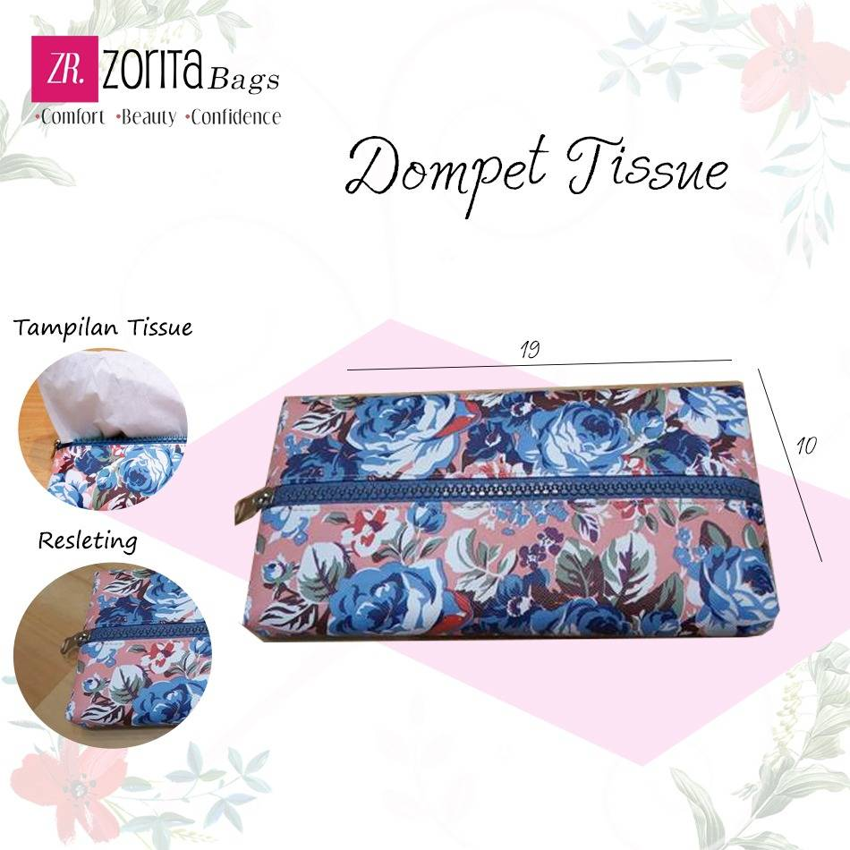 Maharani Outlet Dompet Tissu Flowers 002 By Zorita Bags