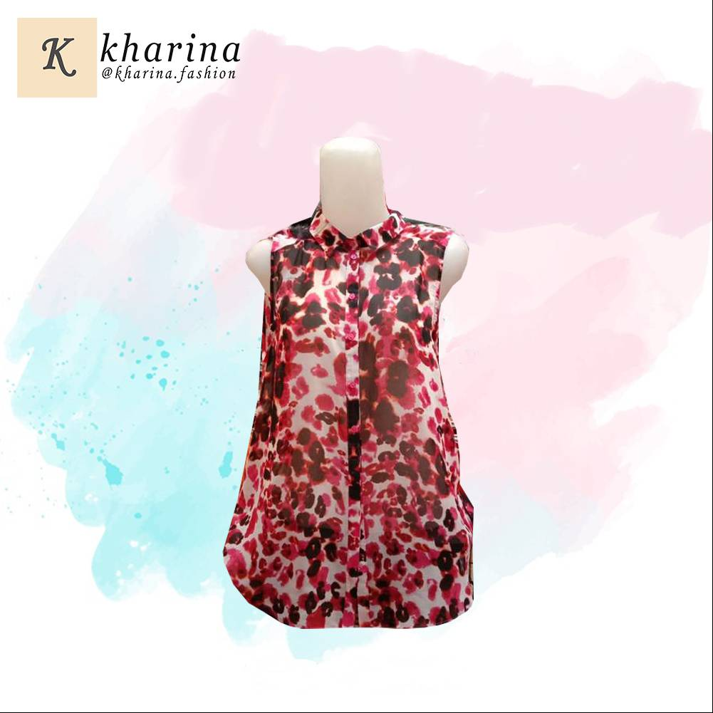 Maharani Outlet T-shirt streach Leopard By Kharina Boutique