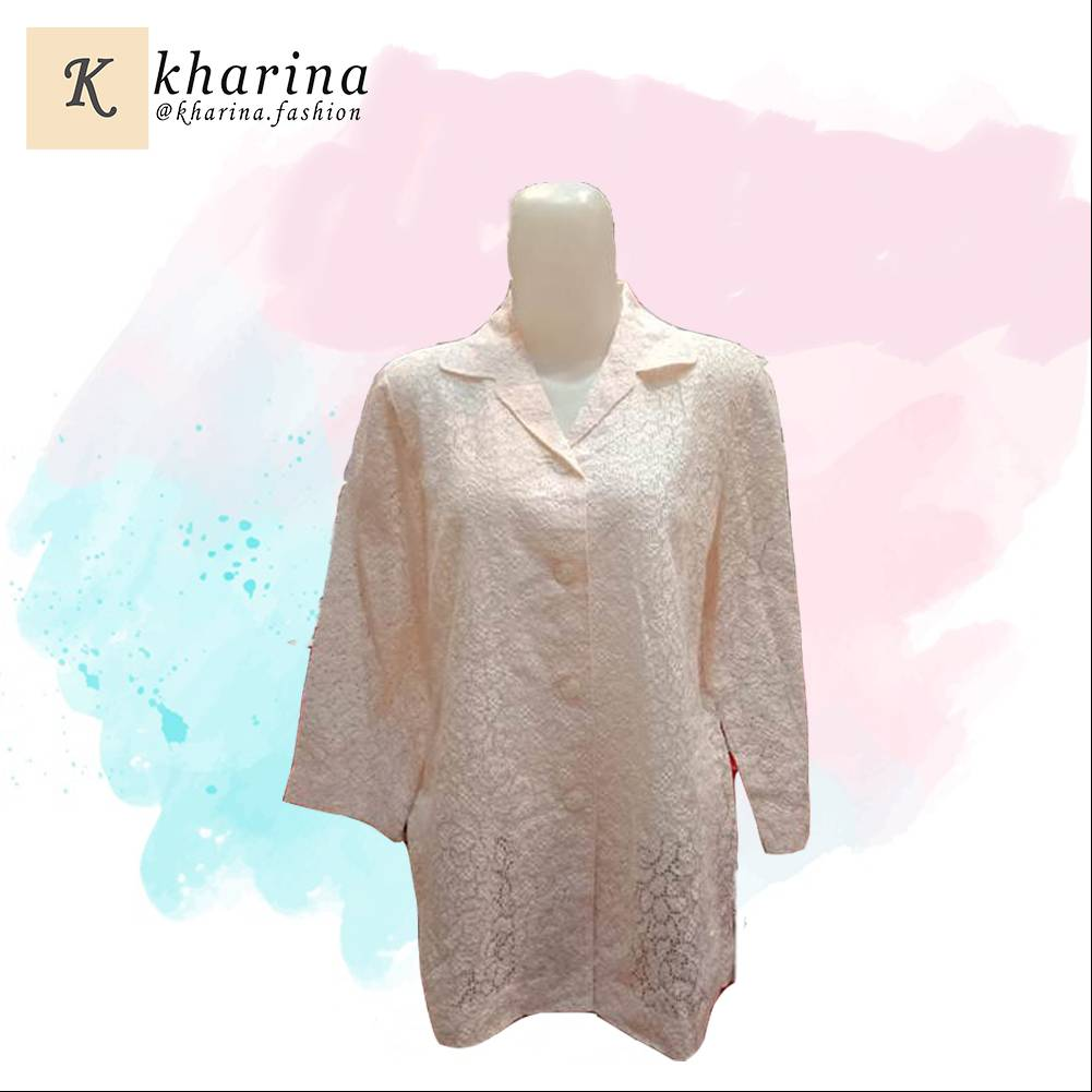 Maharani Outlet flower cutting Long Sleeve Blouse By Kharina Boutique