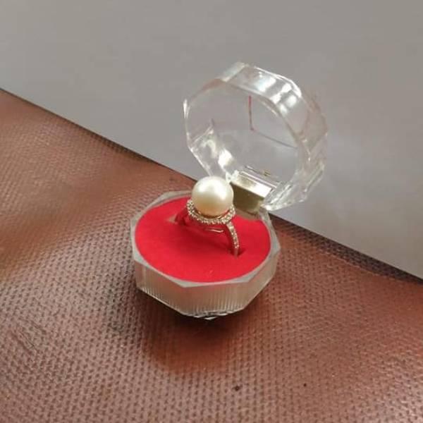 [ Jakarta ] Cincin Mutiara Air Tawar Asli + kotak cincin paling murah dan asli