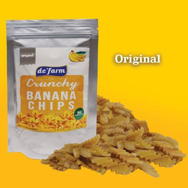 de'farm banana chip - keripik pisang spesial RASA ORIGINAL