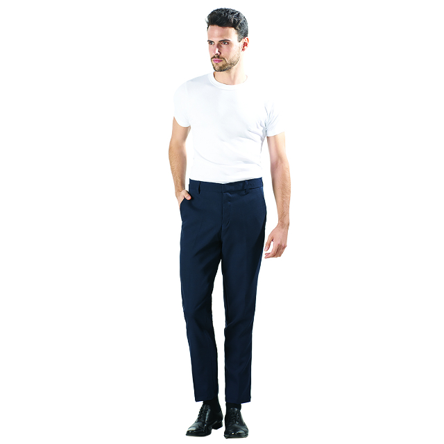 Celana Kantor Pria Biru | LA MONTEE