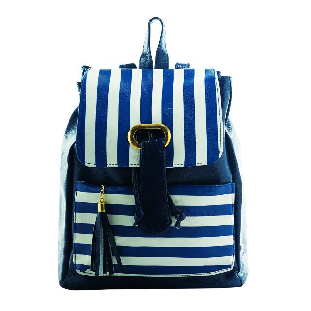 Backpack Wanita - Strip Biru | G-POP